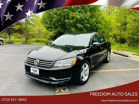 2012 Volkswagen Passat for sale at Freedom Auto Sales in Chantilly VA