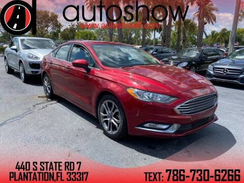2017 Ford Fusion for sale at AUTOSHOW SALES & SERVICE in Plantation FL