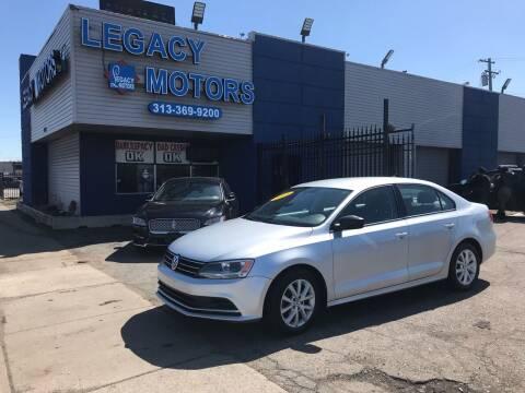 2015 Volkswagen Jetta for sale at Legacy Motors in Detroit MI
