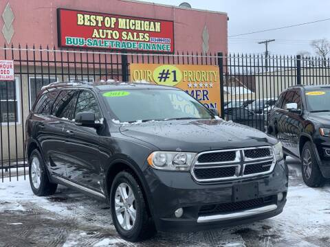 2011 Dodge Durango for sale at Best of Michigan Auto Sales in Detroit MI