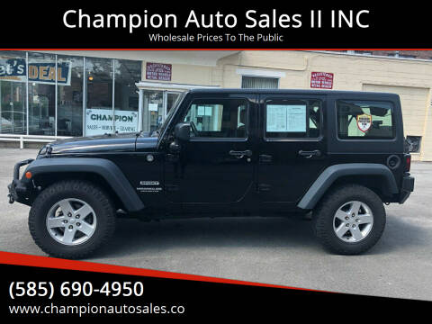 2014 Jeep Wrangler Unlimited for sale at Champion Auto Sales II INC in Rochester NY