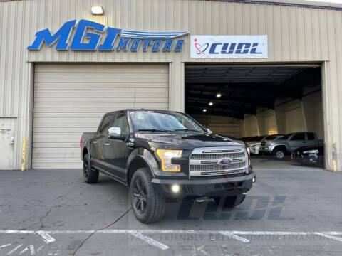 2015 Ford F-150 for sale at MGI Motors in Sacramento CA