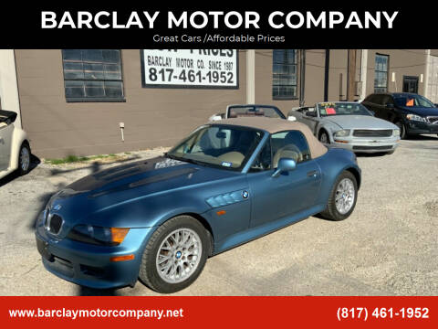 1999 BMW Z3 for sale at BARCLAY MOTOR COMPANY in Arlington TX