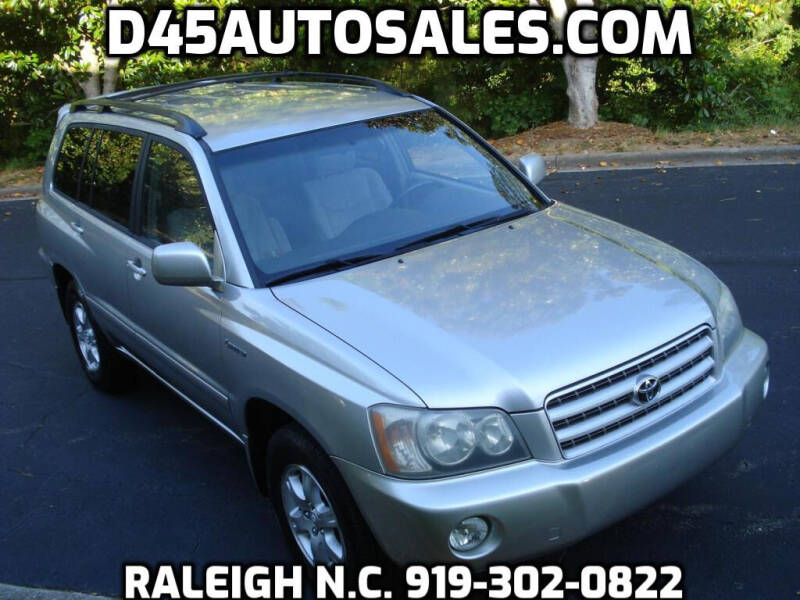 2001 Toyota Highlander for sale at D45 Auto Brokers in Raleigh NC