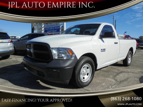 2016 RAM Ram Pickup 1500 for sale at JPL AUTO EMPIRE INC. in Auburndale FL