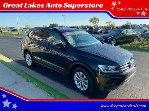 2018 Volkswagen Tiguan for sale at Great Lakes Auto Superstore in Waterford Township MI