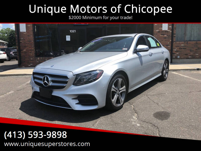 2017 Mercedes-Benz E-Class for sale at Unique Motors of Chicopee in Chicopee MA