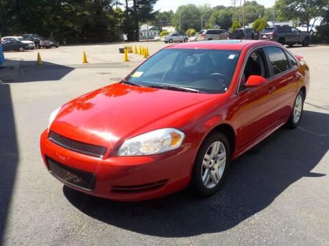 2013 Chevrolet Impala for sale at RTE 123 Village Auto Sales Inc. in Attleboro MA
