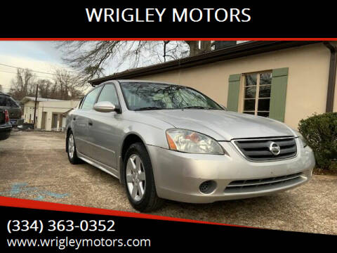 2002 Nissan Altima for sale at WRIGLEY MOTORS in Opelika AL