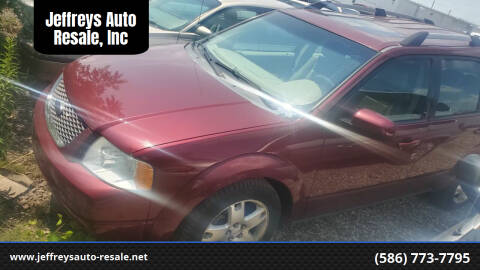 2007 Ford Freestyle for sale at Jeffreys Auto Resale, Inc in Clinton Township MI