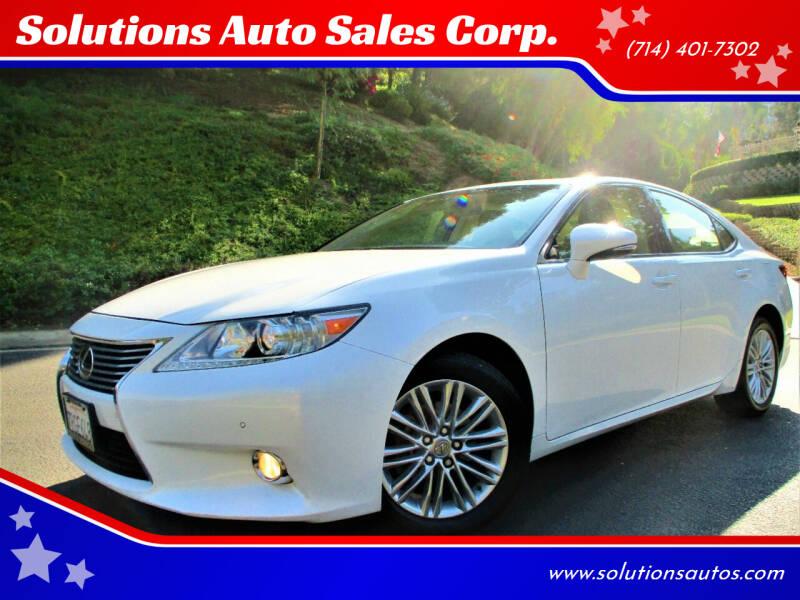 2014 Lexus ES 350 for sale at Solutions Auto Sales Corp. in Orange CA