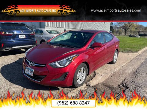 2015 Hyundai Elantra for sale at ACE IMPORTS AUTO SALES INC in Hopkins MN