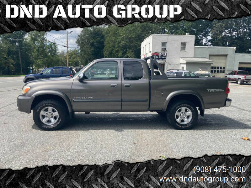 2005 Toyota Tundra for sale at DND AUTO GROUP in Belvidere NJ