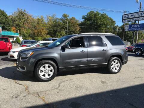 2013 GMC Acadia for sale at M G Motors in Johnston RI