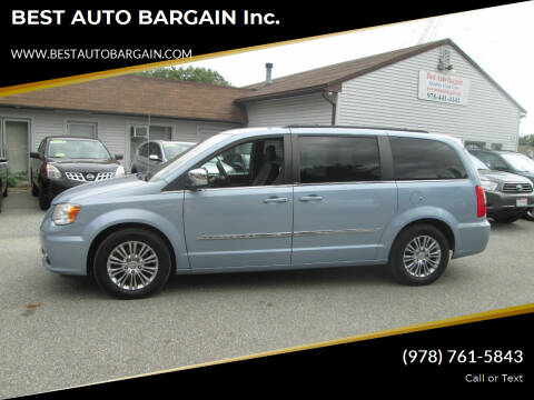 2013 Chrysler Town and Country for sale at BEST AUTO BARGAIN inc. in Lowell MA