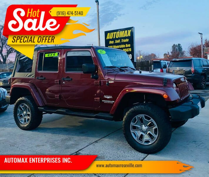 2007 Jeep Wrangler Unlimited for sale at AUTOMAX ENTERPRISES INC. in Roseville CA