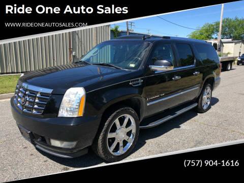 2007 Cadillac Escalade ESV for sale at Ride One Auto Sales in Norfolk VA