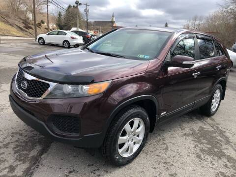 2011 Kia Sorento for sale at SARRACINO AUTO SALES INC in Burgettstown PA