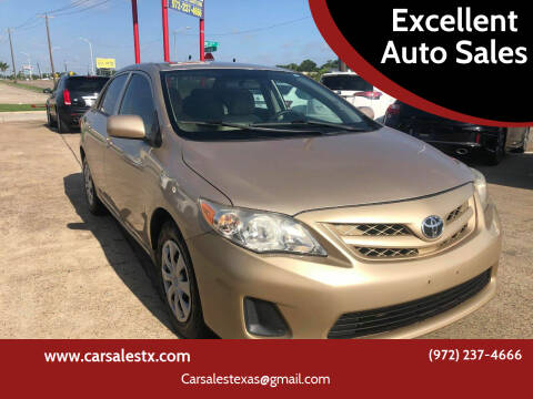 2012 Toyota Corolla for sale at Excellent Auto Sales in Grand Prairie TX