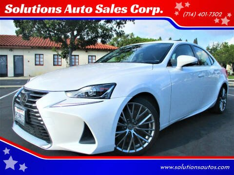 2018 Lexus IS 300 for sale at Solutions Auto Sales Corp. in Orange CA