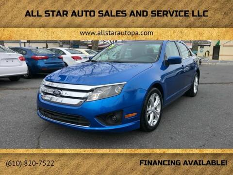 2012 Ford Fusion for sale at All Star Auto Sales and Service LLC in Allentown PA