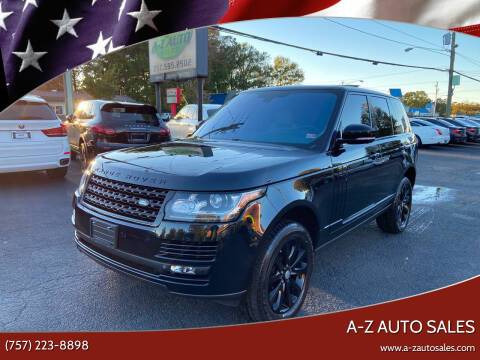 2015 Land Rover Range Rover for sale at A-Z Auto Sales in Newport News VA