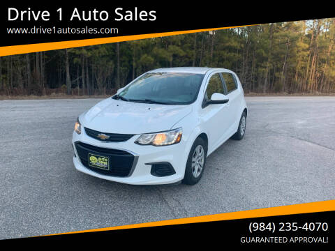 2017 Chevrolet Sonic for sale at Drive 1 Auto Sales in Wake Forest NC