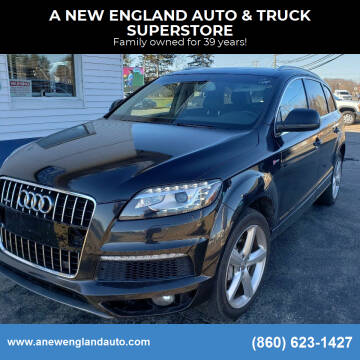 2012 Audi Q7 for sale at A NEW ENGLAND AUTO & TRUCK SUPERSTORE in East Windsor CT