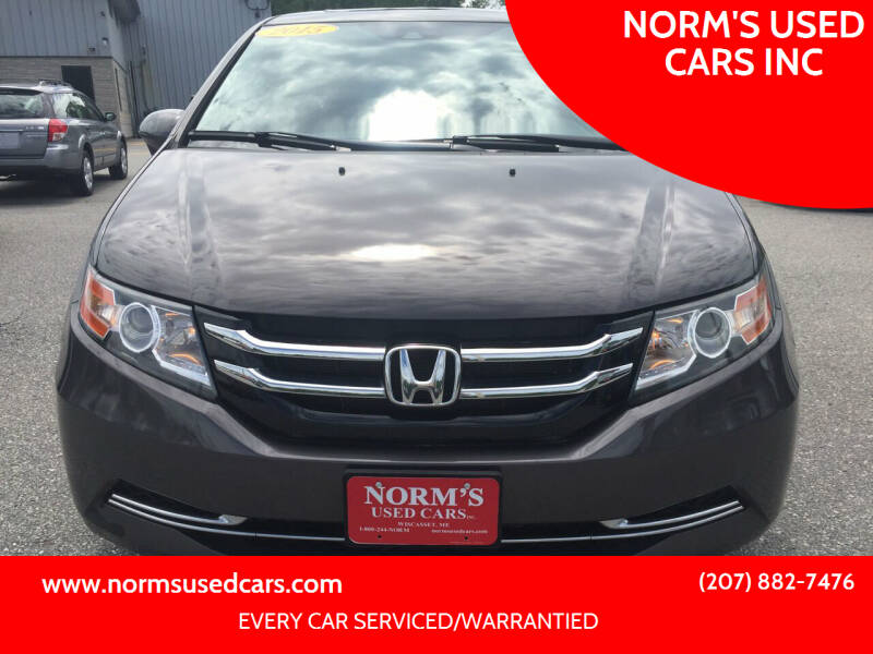 2015 Honda Odyssey for sale at NORM'S USED CARS INC in Wiscasset ME
