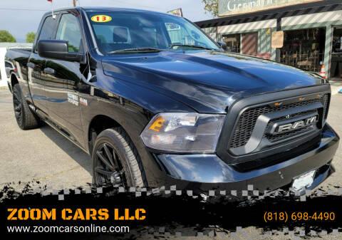 2013 RAM Ram Pickup 1500 for sale at ZOOM CARS LLC in Sylmar CA