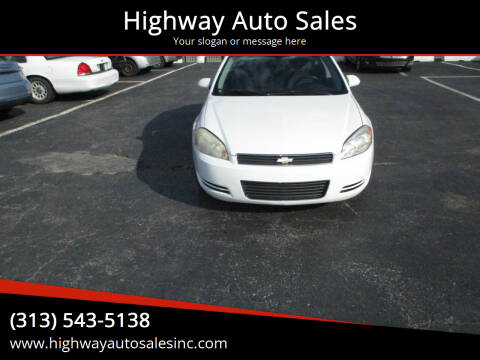 2010 Chevrolet Impala for sale at Highway Auto Sales in Detroit MI