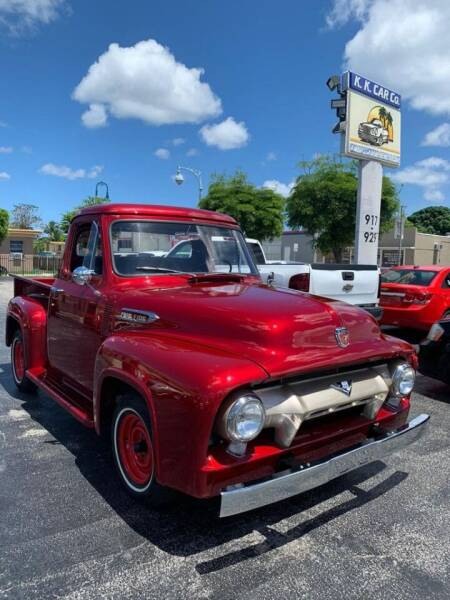 1954 Ford F-100 for sale at KK Car Co Inc in Lake Worth FL