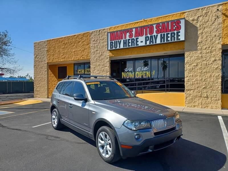 2010 BMW X3 for sale at Marys Auto Sales in Phoenix AZ