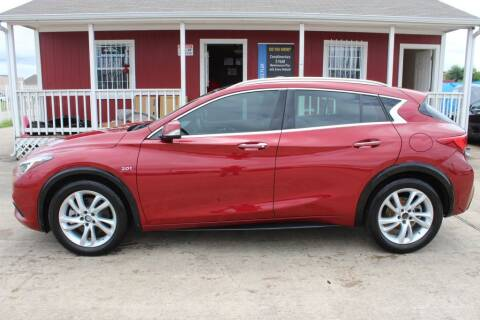 2018 Infiniti QX30 for sale at AMT AUTO SALES LLC in Houston TX