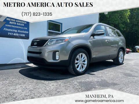 2014 Kia Sorento for sale at METRO AMERICA AUTO SALES of Manheim in Manheim PA