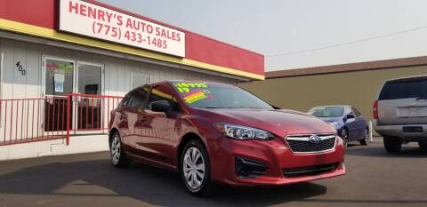 2019 Subaru Impreza for sale at Henry's Autosales, LLC in Reno NV