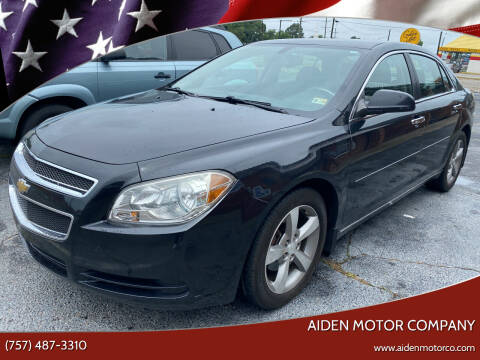 2012 Chevrolet Malibu for sale at Aiden Motor Company in Portsmouth VA