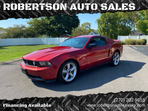 2010 Ford Mustang for sale at ROBERTSON AUTO SALES in Bowling Green KY
