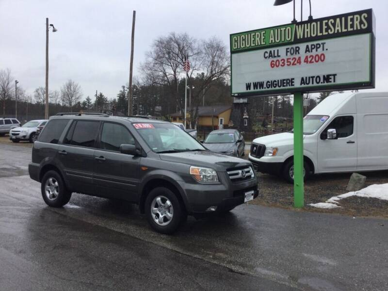 2007 Honda Pilot for sale at Giguere Auto Wholesalers in Tilton NH