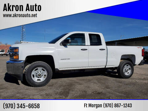 2015 Chevrolet Silverado 2500HD for sale at Akron Auto - Fort Morgan in Fort Morgan CO