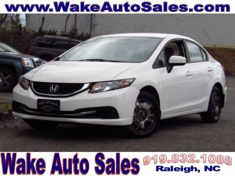 2015 Honda Civic for sale at Wake Auto Sales Inc in Raleigh NC