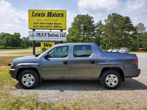 2010 Honda Ridgeline for sale at Lewis Motors LLC in Deridder LA