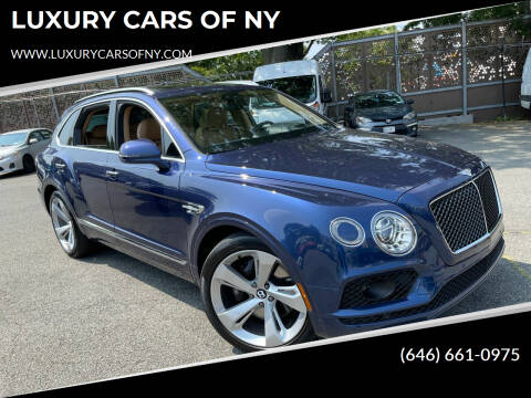 2019 Bentley Bentayga for sale at LUXURY CARS OF NY in Queens NY