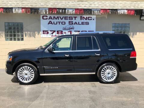 2016 Lincoln Navigator for sale at Camvest Inc. Auto Sales in Depew NY