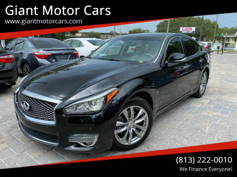 2015 Infiniti Q70 for sale at Giant Motor Cars in Tampa FL