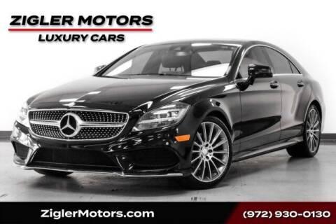 2016 Mercedes-Benz CLS for sale at Zigler Motors in Addison TX