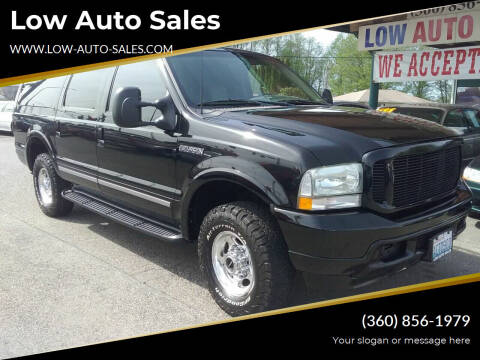 2002 Ford Excursion for sale at Low Auto Sales in Sedro Woolley WA
