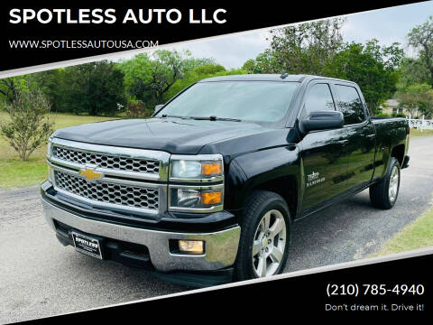 2014 Chevrolet Silverado 1500 for sale at SPOTLESS AUTO LLC in San Antonio TX