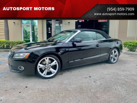 2011 Audi A5 for sale at AUTOSPORT MOTORS in Lake Park FL