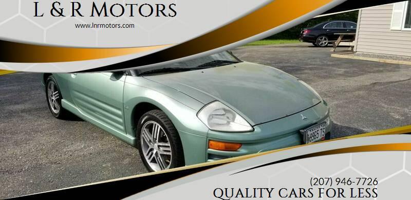 2003 Mitsubishi Eclipse Spyder for sale at L & R Motors in Greene ME